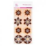 Декор фетровые цветы коричневые оттенки