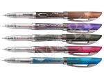Ручка гелевая черный стержень, WRITO-METER