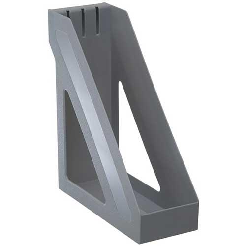 Лоток вертикальный серый металлик, БАЗИС