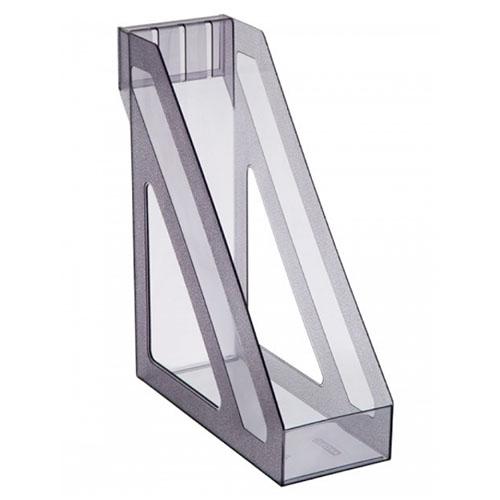 Лоток вертикальный тонированный серый, БАЗИС