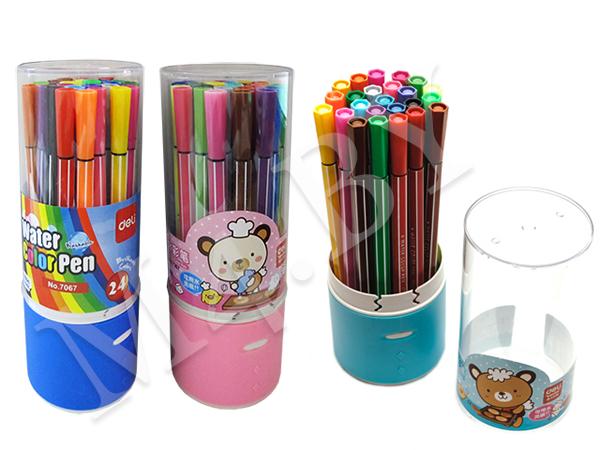 Фломастеры 24 цвета в пластиковом пенале