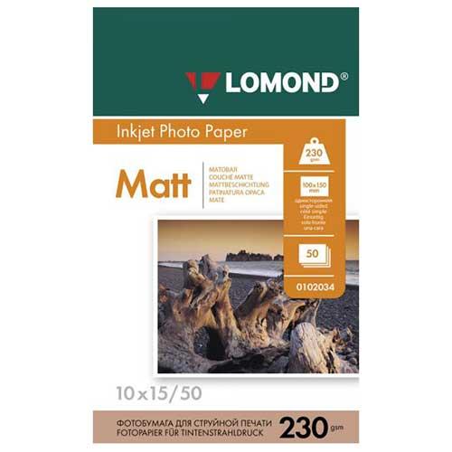 Фотобумага А6 50 листов 230г/м матовая односторонняя