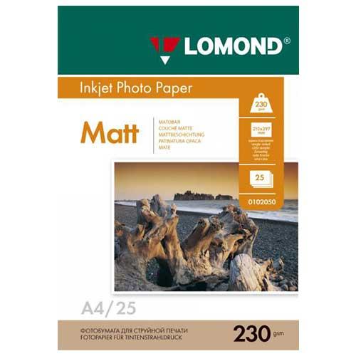 Фотобумага А4 25 листов 230г/м матовая односторонняя