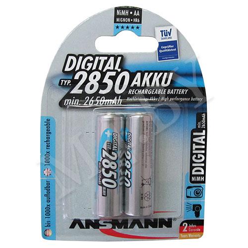 Аккумулятор 2850mAh 2шт, MIGNON
