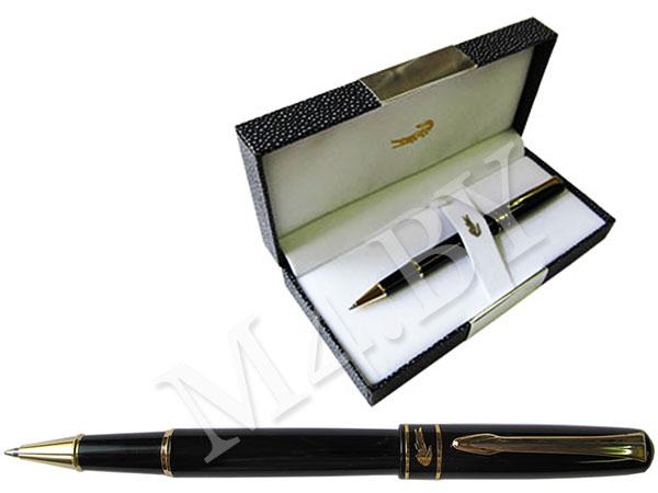 Ручка роллер черная в футляре
