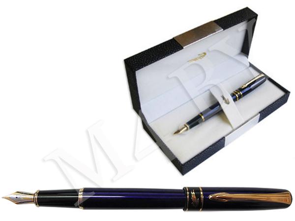 Ручка перьевая синяя в футляре