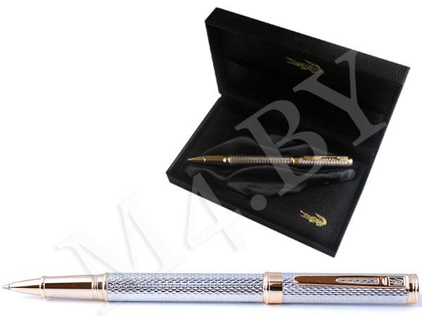 Ручка роллер золото/серебро в футляре